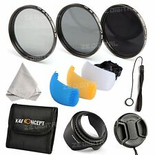 K&F Concept 58mm ND2 ND4 ND8 ND Filtro Neutri Kit Pop Up Diffuser Per Canon