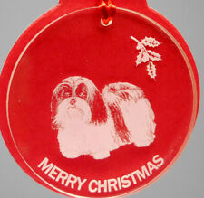Havanese Dog Ornament, Lucite,