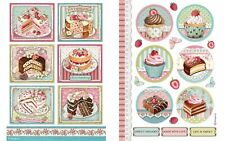 Stamperia Rice Paper A4 - Patisserie & Cake Collection 2 Designs Your Choice New