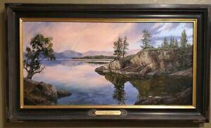 Linda Glover Gooch Promise on Flathead Lake Montana Oil Painting on Linen 18x36