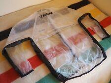 TREK Road Cycling Rain Jacket Long Sleeve Clear See-Thru 100% PVC Large Mens EUC