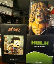 Lot Figure Lootcrate Evil Dead Ash Hulk Standee Slam Stars Ultimate Warrior Wwe