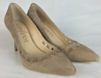 Sole Society 8.5 Women's Heels Kid Suede Leather Wedge Magnolia Taupe Beige Tan