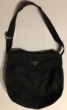 Prada Borsa In Tessuto Black Nylon Hobo Handbag Authentic B6676F Vintage