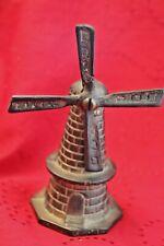 Dutch Windmill Bell Figurarative 4 1/2 inches Vintage Antique Brass