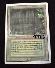 MTG Magic Revised Bayou Dual Land Rare Signed Card By Artist Jesper Myrfors POOR