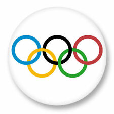 Magnet Aimant Frigo Ø38mm JO Jeux Olympiques Olympic Games Rings Sport Olympie