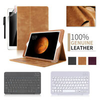 "Genuine Leather iPad 9.7"" Smart Case Stand w/ Slim keyboard For ipad 5/6th gen"