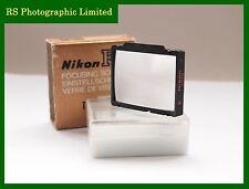 Nikon F3 Pantalla De Enfoque Tipo E Mate Con Rejilla incluye caja y las instrucciones