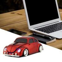Wireless Mouse Gamer Cute Beetle Car Shape 1600DPI Optical Gaming USB PC Laptops