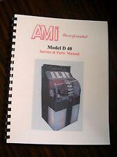 AMI D-40 Jukebox Service & Parts Manual
