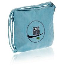 Aqua Blue Cotton Owl Messenger Bag, Adjustable strap - Fair Trade BNWT
