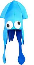 Novelty Squid Aquatic Deep Ocean Animal Hats Costume Accessory, Blue 1 Piece NEW