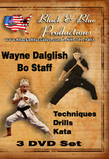 3 Wayne Dalglish Bo Staff Instructional DVDs, Techniques, Drill and Kata