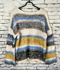 FATE Striped Fuzzy Sweater Womens Size Small