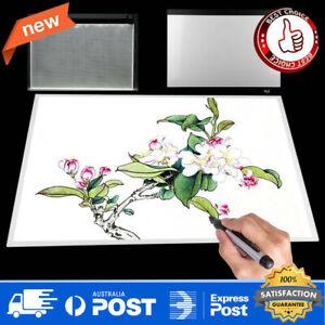 New A2 LED Copy Table Acrylic Micro-USB Art Light Tracing Drawing Pad Board AU