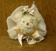 """Hen In The Holly Ornaments #1000 BEAR HEAD, New/tag MADE in the USA 2"""" CHRISTMAS"""