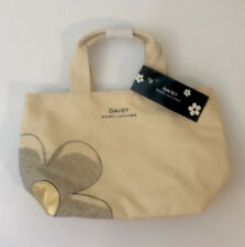Marc Jacobs Daisy Flower Authentic Natural Canvas Small Tote Hand Bag