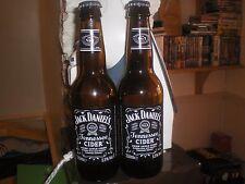 JACK DANIELS OLD NUMBER 7 TENNESSEE CIDER 2 BOTTLES EMPTY WITH LIDS
