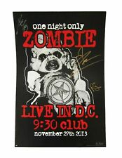 Rob Zombie Band Signed Numbered Autographed 2013 Live 9:30 Poster New Official