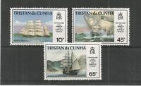 TRISTAN DA CUNHA 1992 WRECK OF BARQUE ITALIA SG,535-537 UM/M LOT 6032A