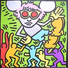 Keith Haring Andy Mouse II (1986) Poster Kunstdruck Bild 97x95 cm