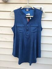 cocomo top Blouses  sleeveless heather blue womens size s