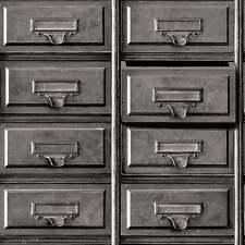 3d vintage gris métal tiroirs classeur caractéristique papier peint holden 11971