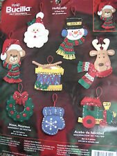 Bucilla Christmas Felt Applique Holiday Ornament Craft Kit,HOLLY JOLLY,84820,NIP