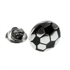 Silver & Black Football Design Lapel Pin Badge XNP166