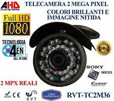 Telecamera AHD 2 MPX reali Altissima Qualità Immagini Nitide Prof 3,6 mm SONY