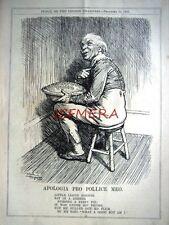 "1927 Punch Cartoon Print, Jack Horner Lloyd George - ""Apologia Pro Pollice Meo"""