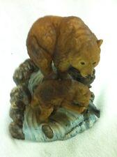 Porcelain Mother Bear & Baby Bear Statue