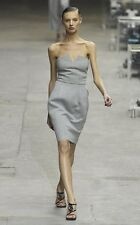 YSL Yves Saint Laurent 2008 RUNWAY Jersey Bustier Sweatshirt Strapless Dress 36