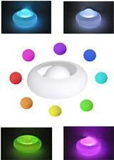 Diffuseur d'arôme d'huiles - vase en verre blanc - LED couleurs changeantes