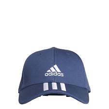 Adidas Performance Enfants Cap de Protection Baseball 3 Rayures Coton Sergé Bleu