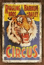Barnum Circus Advert Vintage Retro style Metal Sign, big top, tiger