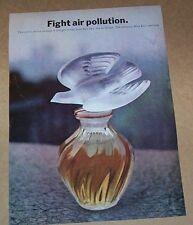 1970 print ad page - L'Air du Temps perfume Nina Ricci -fight air pollution- AD