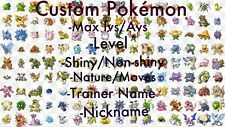 Pokemon Let's Go Pikachu & Eevee Any Custom 3 Shiny Pokemon 6IV/Max/AV Set PLGPE