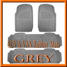 Fits HONDA ODYSSEY GREY  HEAVY DUTY  RUBBER FLOOR MATS / FULL SET / 4 PC