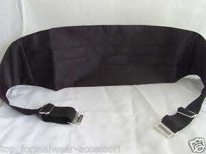"Quality BLACK 100% Silk Cummerbund-24""- 48 "">60cm -120cm Waist>P&P 2UK>1st Class"