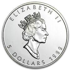 1999 Canada 1 oz Silver Maple Leaf BU - SKU #11063
