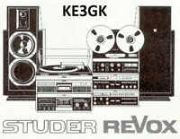 Studer Revox Service and Instruction Manuals * DVD * PDF * KE3GK