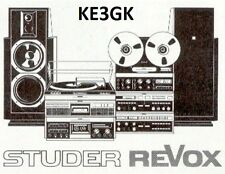 Studer Revox Service and Instruction Manuals * DVD * PDF