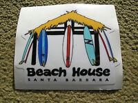beach house surf shop surfboards sticker surfing longboard santa barbara calif