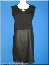 Robe noire en bi-matières, taille 54/56