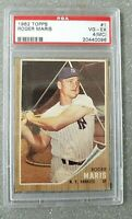 1962 Topps Roger Maris  #1 VG-EX 4 (MC) Major Leagues Original New York Yankees
