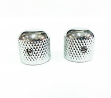Rare 50's Replacement Vintage Telecaster Tele Knobs (2) - CHROME Plated Brass
