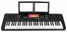 Leuchttasten Keyboard 61 Tasten 580 Piano Sounds Lern Klavier Rhythmen MP3 USB