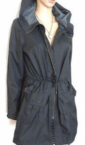 Regatta black parka jacket, sz. 12, with hood, lightweight